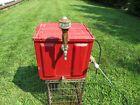 Vintage Beer Keg Tap Ice Box Coil Cooler Manual Pump