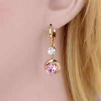 1 Paar Frauen Ohrringe hängen stilvolle rosa Zirkon Ohrstecker Schmuck Dekor