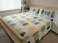 SUPER KING SIZE DUVET COVER SET WITH MATCHING CURTAINS (168 X 229cm)