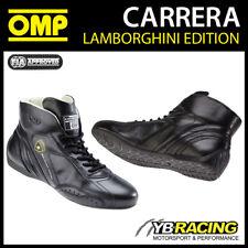 IC/784 OMP CARRERA LAMBORGHINI LEATHER RACE BOOTS VINTAGE STYLE CLASSIC RACING