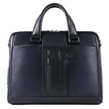 Man briefcase Piquadro Urban CA4098UB00/BLU blue leather and slim business bag