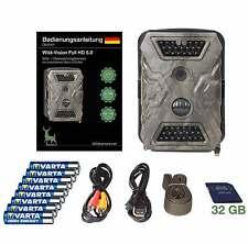 Wildkamera/Fotofalle: Wild-Vision Full HD 5.0 - 32 GB- Super Pack mit Black LEDs