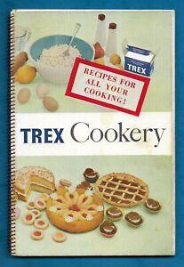 "1961 SPIRAL BOUND ""TREX"" COOKING FAT RECIPE BOOKLET"