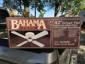 "New, open box: Bahama Fans Classic 42"" 4 Blade Ceiling Fan HC 42 207938"