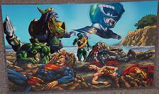 Power Rangers Green Ranger vs Avengers & Justice League Glossy Print 11 x 17