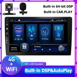 """Universal 10.1""""Android 10.0 Car Stereo DSP CarPlay GPS Double 2Din Wifi BT-5.0"""
