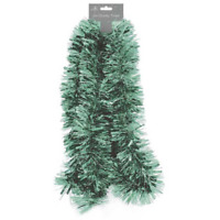 Light Pale Green Traditional Christmas Tinsel 2 Metres (6.5 Ft) Trees Decoration