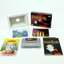 FINAL FANTASY 3 Super Nintendo SNES COMPLETE w/ Map & Poster Tested Exc Cond.