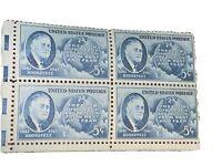 US USA Sc# 933 MNH FVF PLATE # BLOCK Franklin D Roosevelt 32nd President Globe