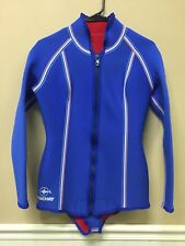 Beuchat Sub France Wet Suit Size T 4 Blue with Stripe Detail