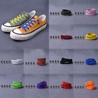 1 Pair 100CM No Tie Lazy Shoelaces Sneaker Elastic Rubber Wild Flat Shoe Laces.