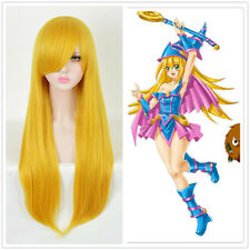 Yu-Gi-Oh! Cosplay Dark Magician Girl Blonde LONG straight Cosplay Wig +a wig cap