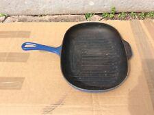 Le Creuset Oval Blue Enamel Griddle Pan 32cm