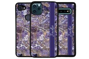 Purple Gold Silver Marble Personalized Phone Case for Apple Samsung LG Google