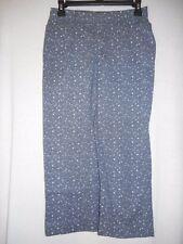 Size 6 cotton blend Blue White floral print Capri Cropped Pant