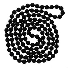 "6mm Matte Onyx Necklace, 36"" Necklace, Black Thread, Hand Knotted, Wholesale"