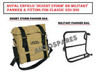 """Royal Enfield """"Desert Storm"""" RH Military Pannier & Fitting For Classic 350 500"""