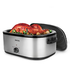 22Qt Stainless Steel Roaster Oven with Self-Basting Lid and Easy Lift Rack photo