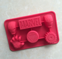 Flexible Silicone Marvel Ironman ice mold & chocolate mold Jello Maker mould