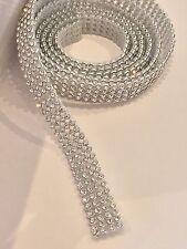 Crystal Rhinstone Diamante Ribbon Chain 1m, 4 row