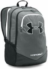 Nwt New Under Armour Youth Scimmage Black Gray Storm School Backpack Bag