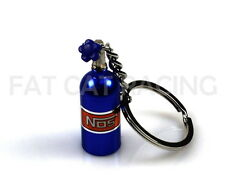 NOS Mini Bottle Blue Keychain JDM Nitrous Oxide Systems for Racing Enthusiasts