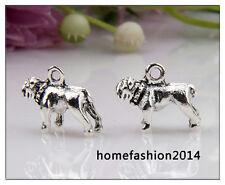 25 Dog Tibetan Silver Charms Pendants Findings EIF0326