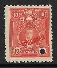 STAMPS-PERU. 1924. 10c Vermilion ABNCo Specimen. SG: 434 var. MNH