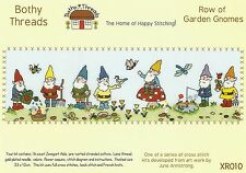 BOTHY THREADS ROW OF GARDEN GNOMES COUNTED CROSS STITCH KIT - NEW 33x10cm