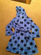 Marks And Spencer Blue Star Dressing Gown Aged 3-4