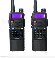 2 PCS BAOFENG UV-5R Dual Band UHF/VHF Radio Transceiver + 3800mah HIGH Battery