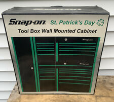 Snap-On Wall Mount Tool Box Cabinet St Patrick's Day Green RARE Advertising Item