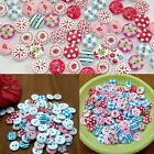 100Pcs 2 Agujeros Colores Botones De Madera Costura 15 mm Manualidades buttons