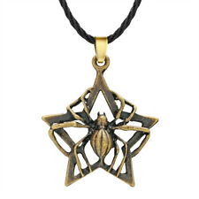 Gothic Spider Man Necklace Insect Charm Star Viking Pendant Hip Hop Rock