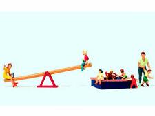 Preiser 10587 Spielende Kinder 8 Figuren Wippe Sandkasten Spielplatz H0 Neu