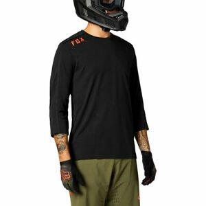 Fox Racing 2021 Ranger Drirelease 3/4 Sleeve Jersey Black