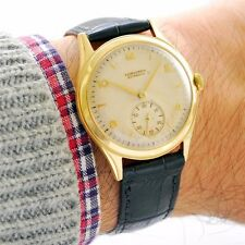 ALL ORIGINAL SWISS LONGINES AUTOMATIC 18K SOLID YELLOW GOLD 1945 MENS WATCH
