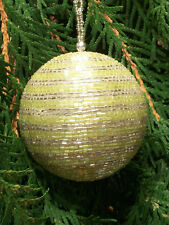 Christmas Tree Decoration - Two Color Beaded Ball