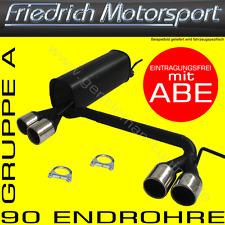 FRIEDRICH MOTORSPORT DUPLEX AUSPUFF VW GOLF 4 CABRIO 16V+VR6