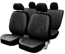 Premium Universal Autositzbezüge Sitzbezüge Kunstleder Schonbezüge SCHWARZ