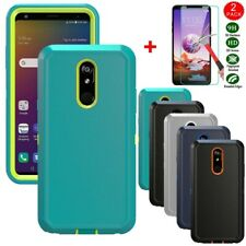 For LG Stylo 4/Stylo 5/5x/5 Plus Case Rugged Armor Cover+Glass Screen Protector