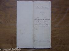 1881 ancien ACTE NOTARIE TIMBRES vente judiciaire d un pre VADANS Haute Saone