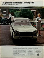 Triumph Vitesse Can You Have Children and a Sporting Car Vintage Advert 1965