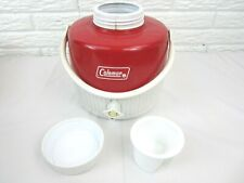 Vintage Coleman Jug Cooler Red 1 Gallon Water Thermos Camping Prop USA