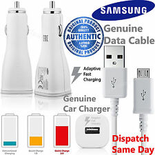 GENUINE Samsung Fast Adaptive Car Charger & USB Cable For Galaxy S5 S6 S7 Edge +