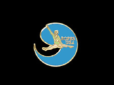 Usa Ropes Rhythmic Gymnastics Lapel Pin - Creative Cut Out Design