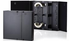 Fiber Optic Dual Door Wall Mount Patch Panel (Enclosure) Holds 4 LGX Plates