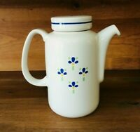 Vintage Porcelain Ceramic Teapot Floral Blue Green Yellow