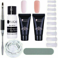 30ml Quick Building Poly Nail Gel Slip Solution False Mold Tips Spatula Brush