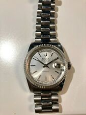 BULOVA SUPER SEVILLE AUTOMATIC DAY&DATE SILVER DIAL WATCH